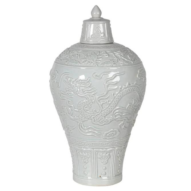 Bilde av ANTIQUE EFFECT VASE W LID
