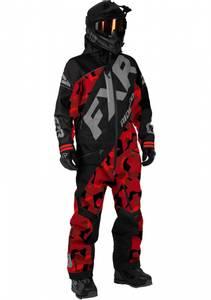 Bilde av FXR Mens CX Lite Monosuit - Black/Red Camo/Lt