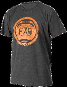 Bilde av FXR Mens Holeshot T-Shirt Charcoal Heather/Orange