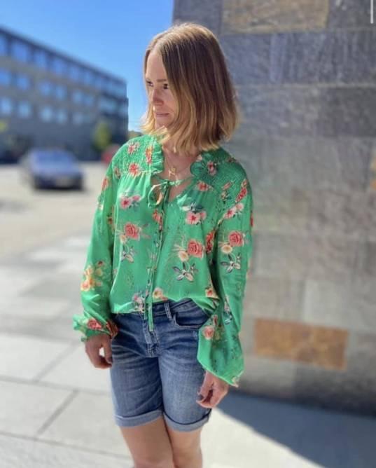Bilde av Blossom bluse grønn