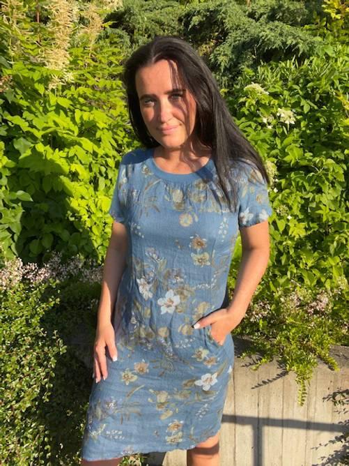 Bilde av MASSIMO - Linkjole blomsterprint blå