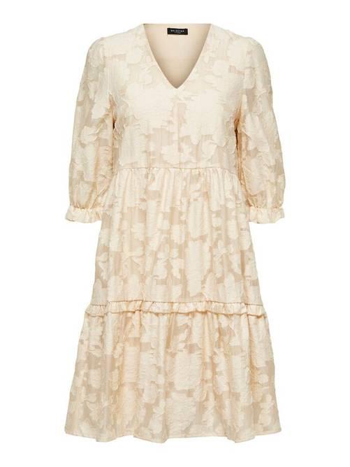 Bilde av Romantisk minikjole beige