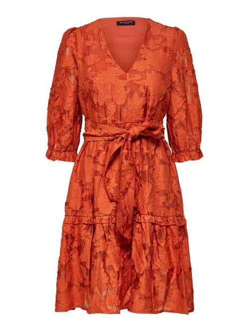 Bilde av Romantisk minikjole oransje