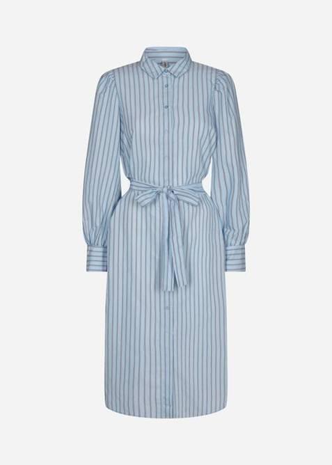 Bilde av Skjortekjole lyseblå striper