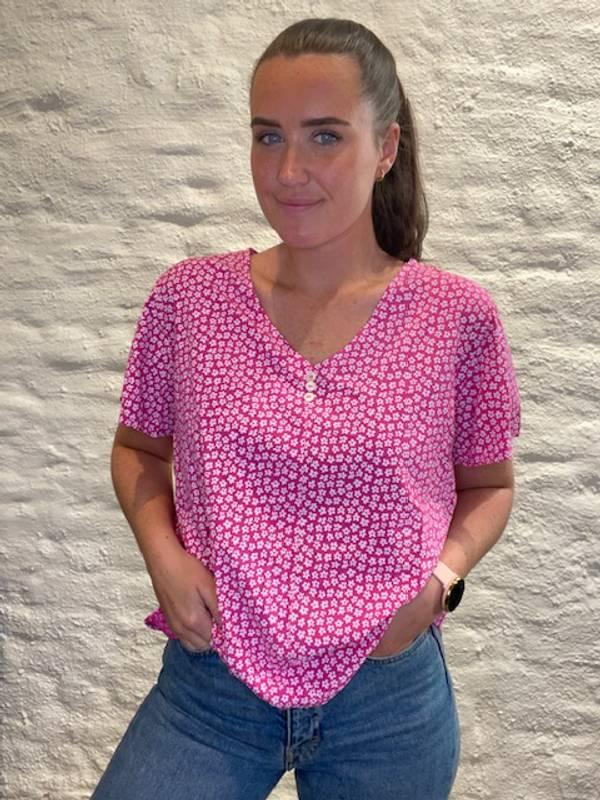 Bilde av MASSIMO - Bluse småblomster rosa 8336