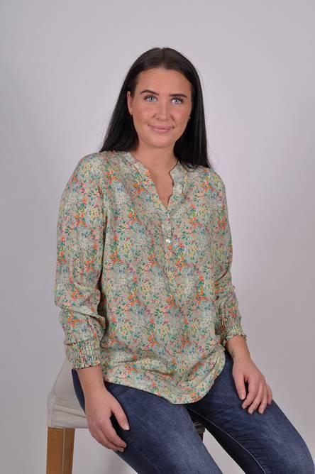 Bilde av MASSIMO - Bluse småblomster grønn 8445-69