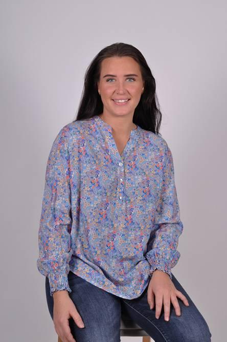 Bilde av MASSIMO - Bluse småblomster blå 8445-69