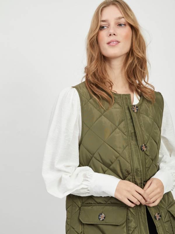 Bilde av Quilted waistcoat green