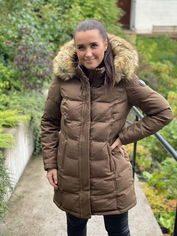 Bilde av ALEKSANDER - Maxine vinterjakke fuskepels brun