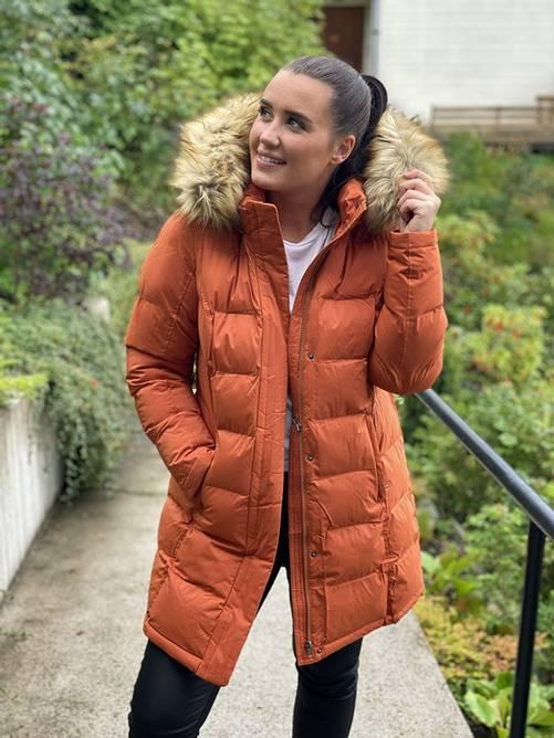 Bilde av ALEKSANDER - Maxine vinterjakke fuskepels oransje