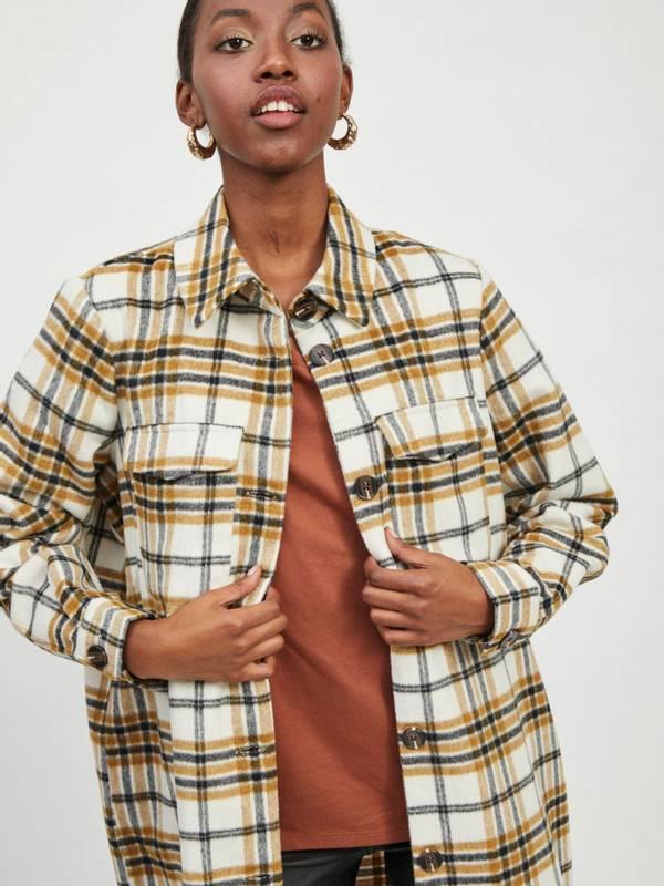 Bilde av Lang rutete skjortejakke