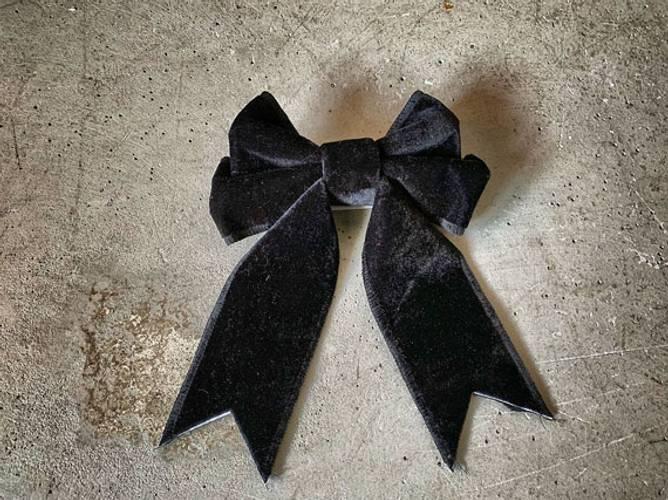Bilde av TREND DESIGN - Velur sløyfe svart