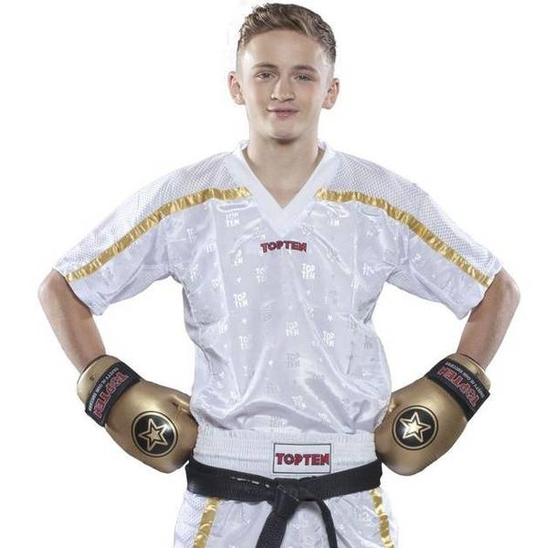 Bilde av TOP TEN Mesh Kickboxing Overdel - Hvit/Gull
