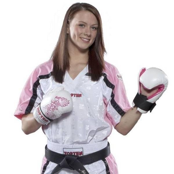 Bilde av TOP TEN Mesh Kickboxing Overdel - Hvit/Rosa