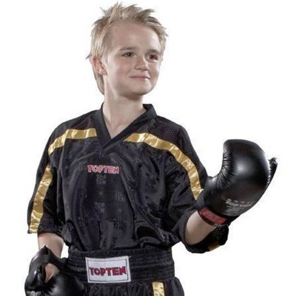 Bilde av TOP TEN Mesh Kickboxing Overdel - Svart/Gull