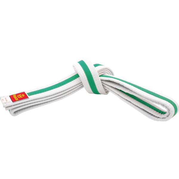 Bilde av HAYASHI Hvitt Belte med grønn stripe