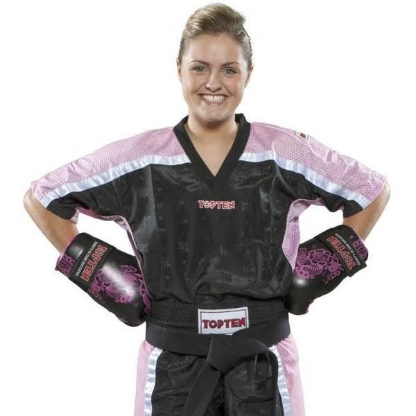 Bilde av TOP TEN Mesh Kickboxing Overdel - Svart/Rosa