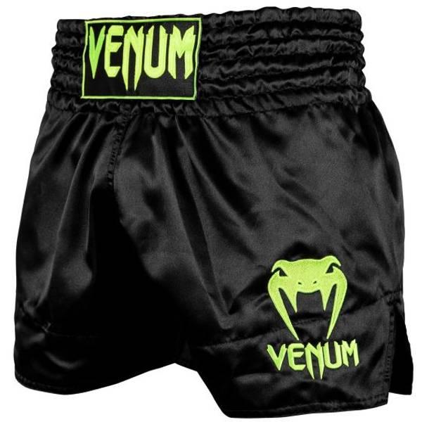 Bilde av VENUM Classic Muay Thai shorts - Svart/Gul