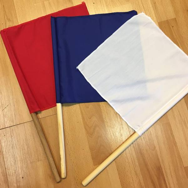 Bilde av Penalty Flag Set Rød/Blå/Hvit