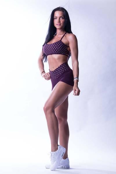 Bilde av NEBBIA NS High waist shorts Burgunder 648