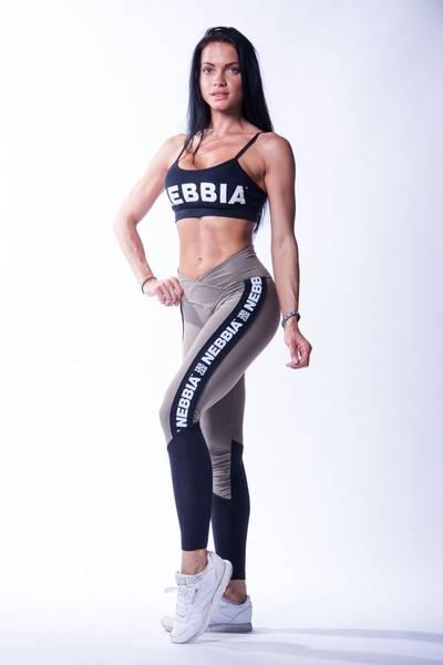 Bilde av NEBBIA High Waist Mesh leggings Grå 601