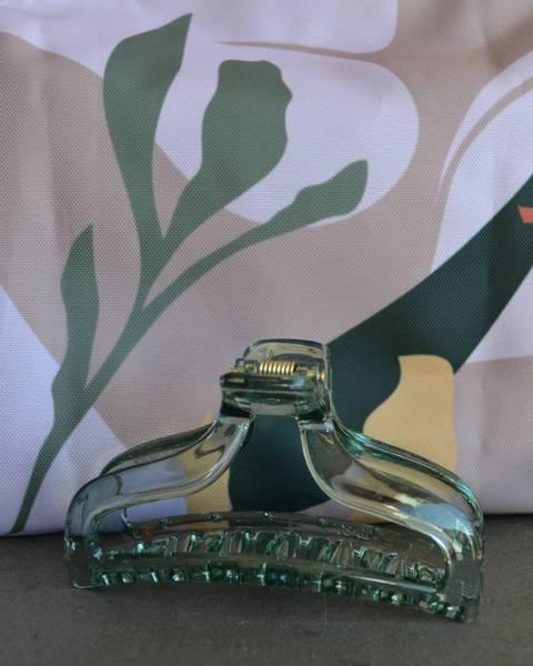Claw hårklype transperant green