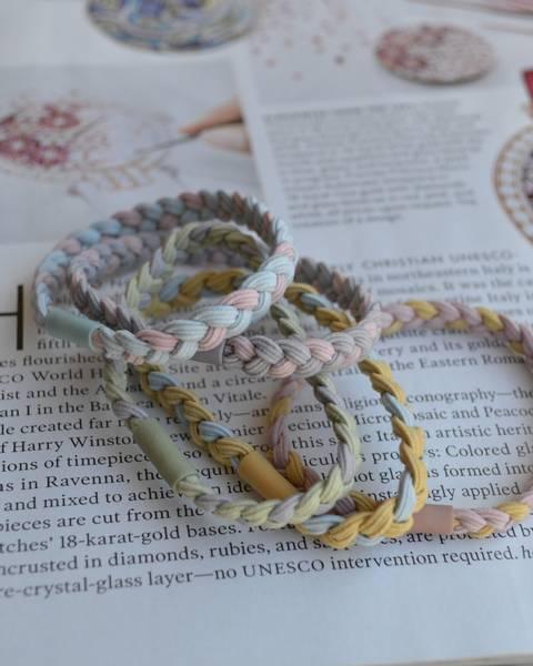 Colorful braided hårstikk 5-pack mix