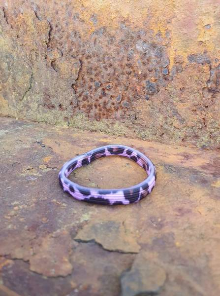 Leopard hårstrikk 8cm pink