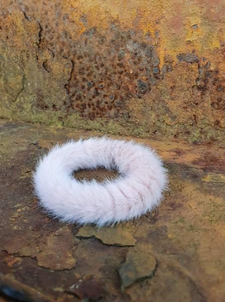 Fluffy Fur hårstrikk 8cm dusty rose