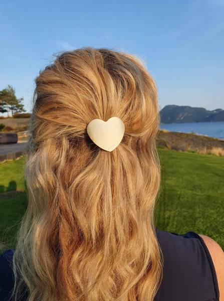 My Heart hårstrikk 8cm gold/metall