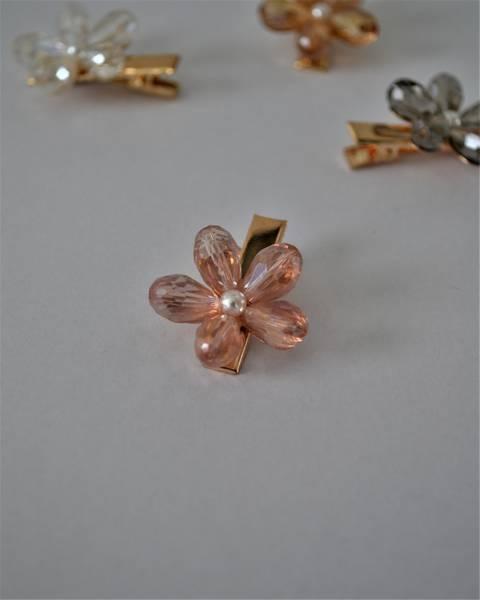 Flower hårspenne pink