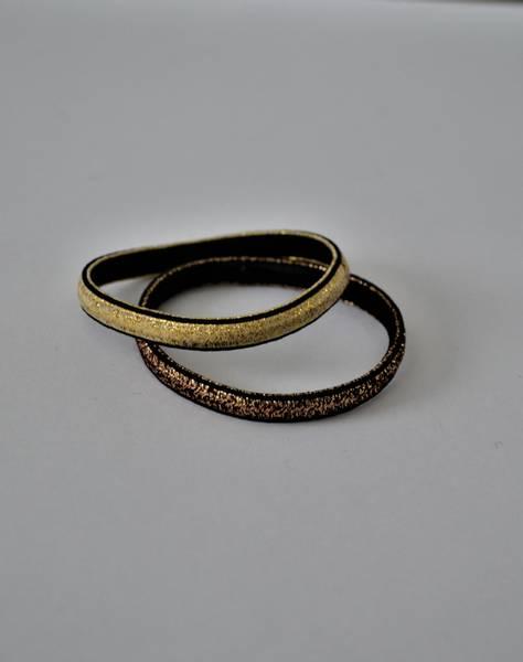 Glow hårstrikk 7cm gold