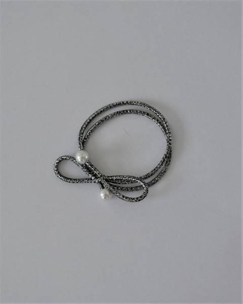 Pearl hårstrikk 8cm silver