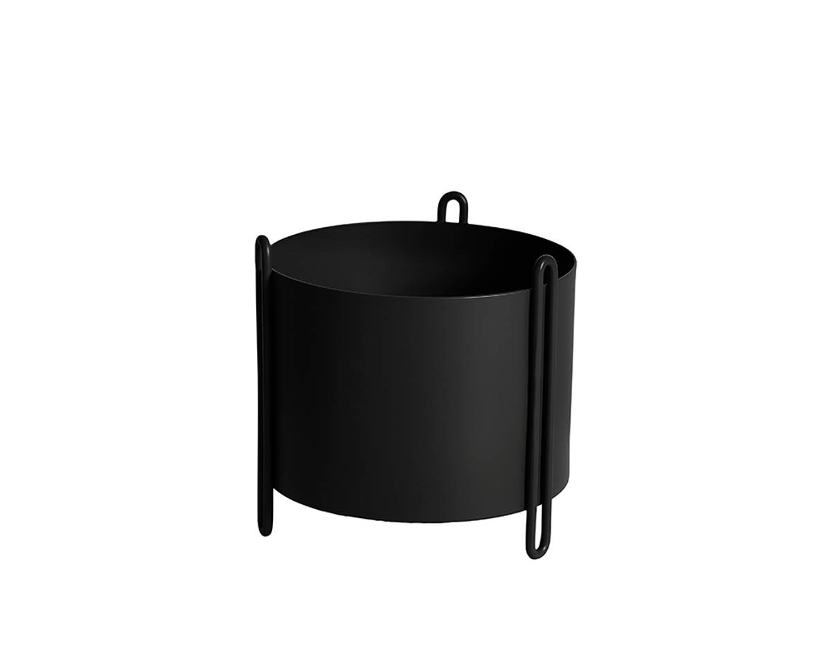 Pidestall planter small black - Woud
