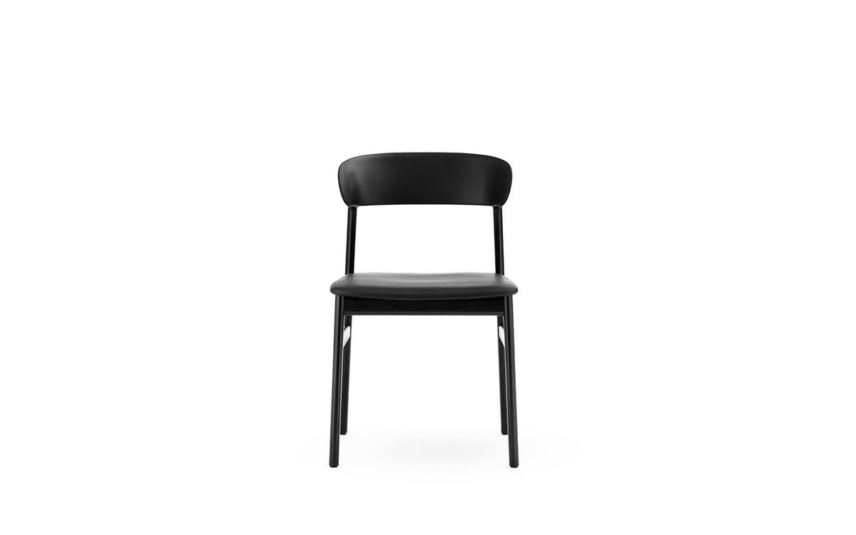Herit Chair Leather/oak Black - Normann Copenhagen