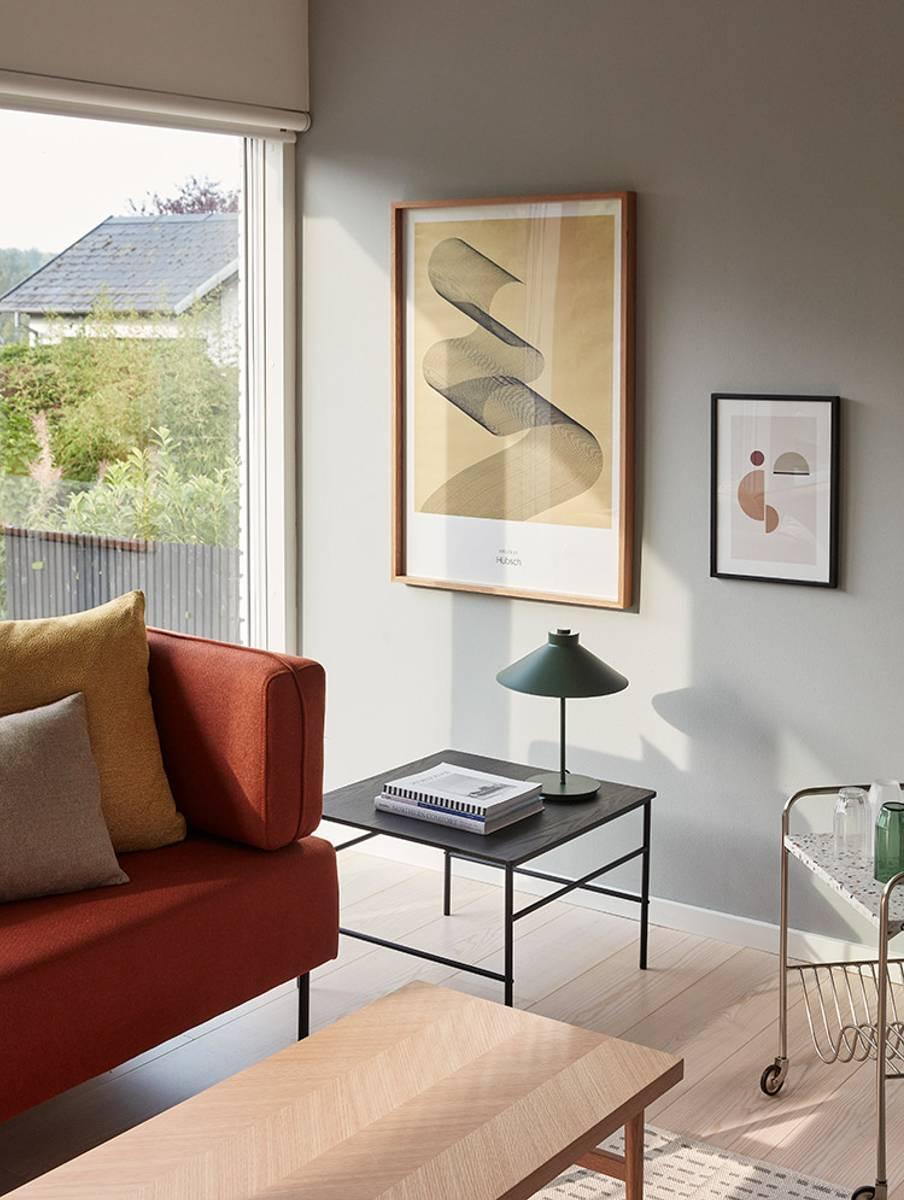Sofabord med fiskebensmønster - Hübsch