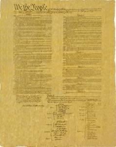 Bilde av  Colonial Replica U.S. Constitiution Poster