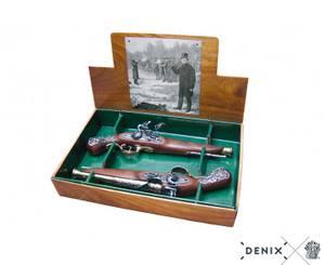 Bilde av Duellpistoler i box, 1800-tallet