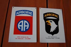 Bilde av Airborne metall skilt