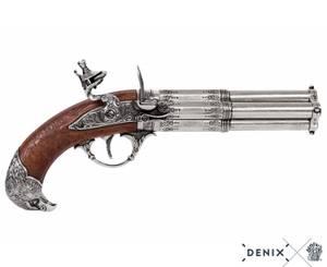 Bilde av Fransk pistol m/4 løp, roterende, 1800-talls
