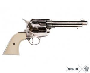 Bilde av Colt Peacemaker .45, chrome m/hvite grep.