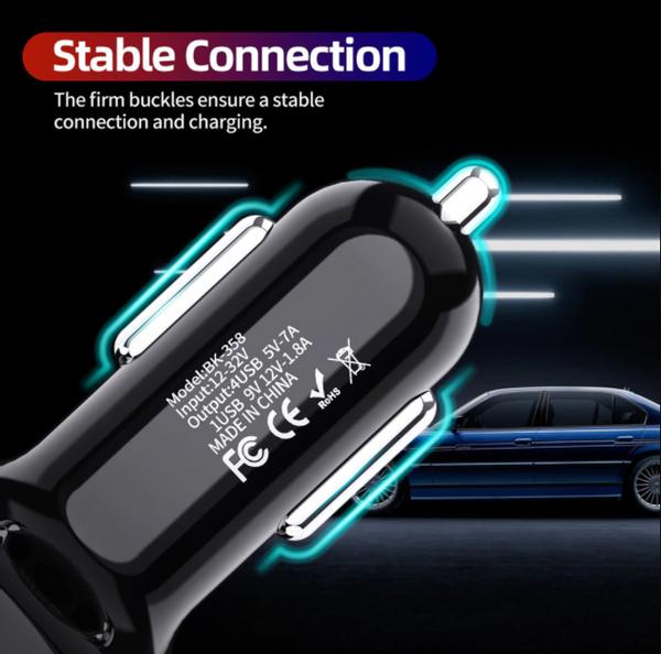 USB Hurtig Lader bil 4-Port