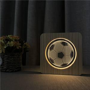 Bilde av Fotball Wood Lamp