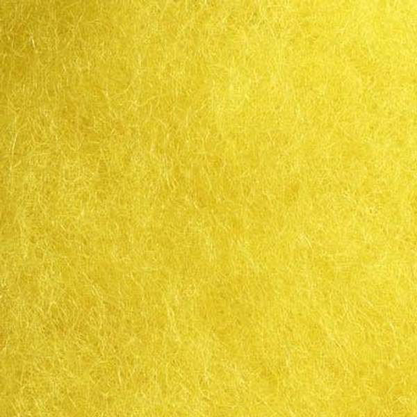 Bilde av Kardet ull, gul 100g