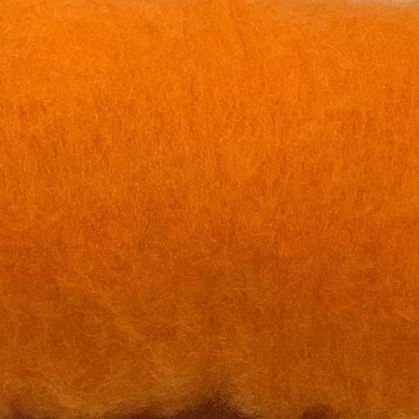 Bilde av Kardet ull, oransje 100g