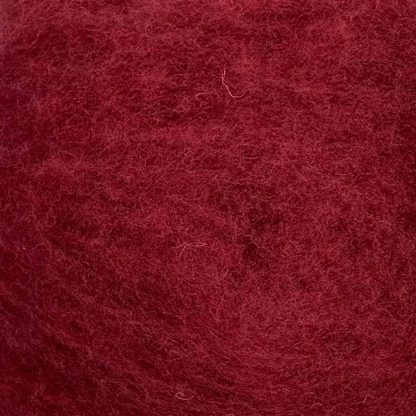 Bilde av Kardet ull, mørk burgunder 100g