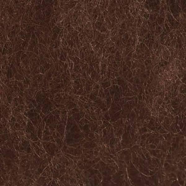 Bilde av Kardet ull, brun 100g