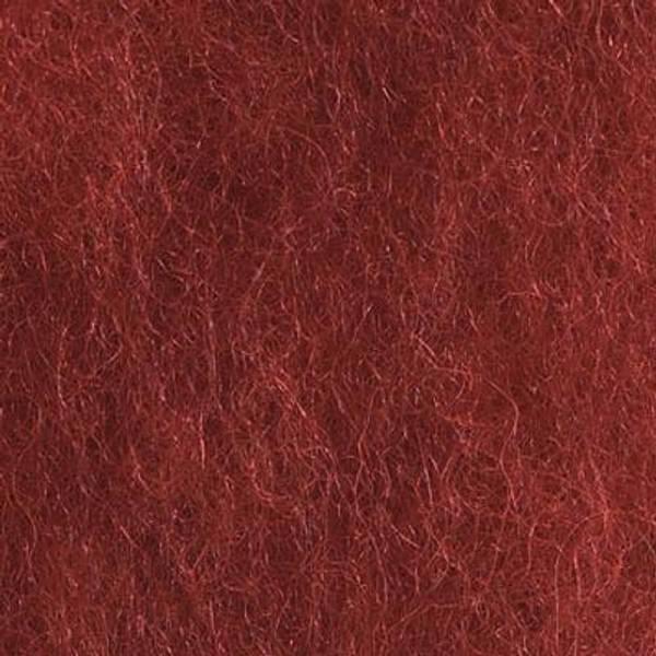 Bilde av Kardet ull, dyp rød 100g