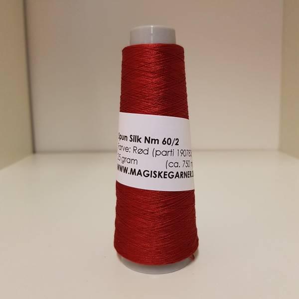 Bilde av Spun silk Nm 60/2 Rød