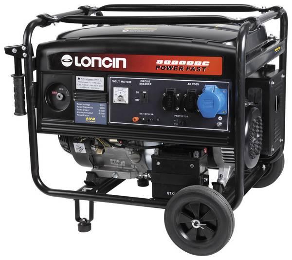 Bilde av Loncin LC8000DDC – 1-fas strømaggregat